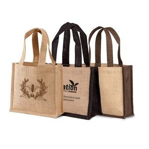 Jute - Two Tone Small Burlap Gift Bag